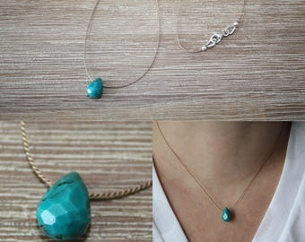 Necklace drop turquoise