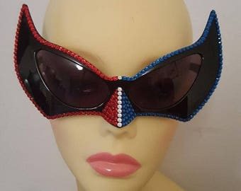 FunSpex Sunglasses Adorned with Swarovski Crystal -  So Cool SuperGirl