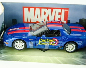 Rare Maisto Corvette ZO6 Marvel Captain America Edition 1/24 Scale Diecast Car