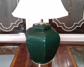large hexagon shaped table lamp