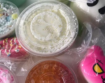 SLIME Mystery Slime Grab Bag! One 4oz or 2oz slime with candy and cute extras! Now including snow slime!