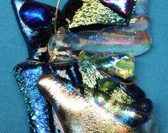 Dichroic Glass Faerie Pendant
