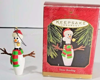 Hallmark Keepsake Holiday Ornament 1997 Snow Bowling