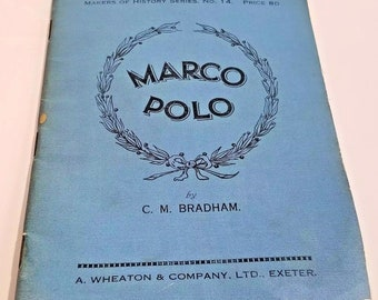 Vintage 1937 Marco Polo Paternoster Press Pocket Book Paperback C. M. Bradham