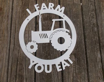 Tractor with Cicle Frame and Writing