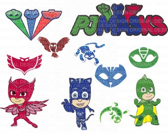 PJ Masks svg file/PJ Masks svg,dxf,png,eps,ai/PJ Masks clipart/Studio3 files - Download - Cut File, Clipart - Cricut Explorer - Silhouette