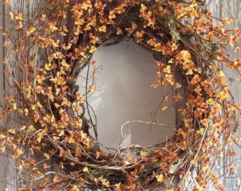 Bittersweet Wreath   Fall Door Wreath   Front Door Wreath   Front Door Decor   Autumn Wreath   Fall Decor - 106AHFW