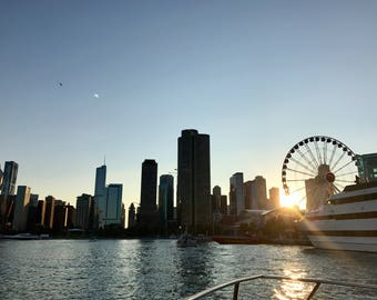 Navy Pier at Sunset