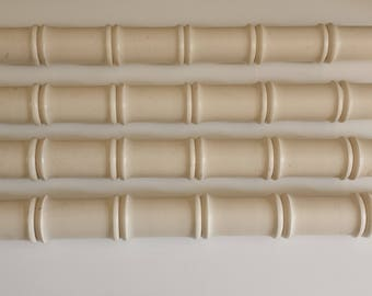 Set of 4 Faux bamboo spindles