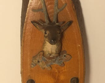 Stag Head Buck Deer Head Key Holder Wall Hanging, Barryville, NY Souvenir