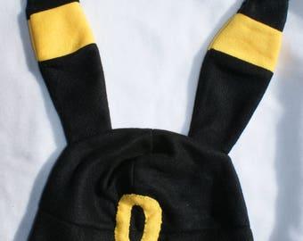 Umbreon and Shiny umbreon Inspired fleece hat/beanie