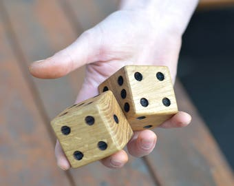 Yard Yahtzee, Wooden Gaming Dice, Custom Dice, Outdoor Games, Jumbo Dice Games, Lawn Dice, Outdoor Wedding Game, Yard Dice Games, Gift idea.