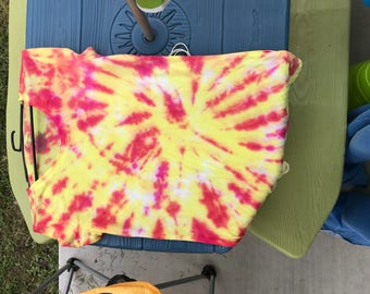 Pink and yellow tiedye shirt