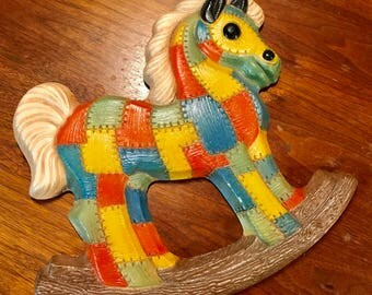 Patchwork Rocking Horse Wall Hanging