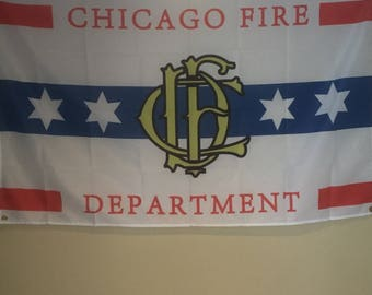 Chicago Fire Department Wall Flag