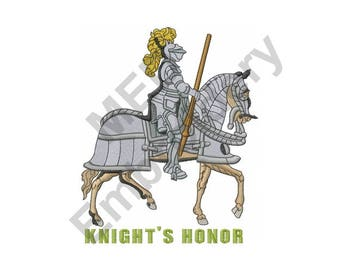 Knight - Machine Embroidery Design, Armor, Horse, Knight In Armor, Knight's Honor