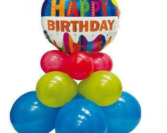 happy birthday party balloons, decoration kits, birthday, centerpieces,