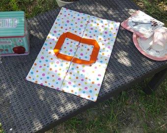 Bag pie or cake dots ACIDULE picnic pink green blue Orange unique