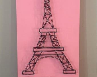 Eiffel Tower string art wall decor