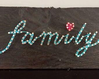 Family String Art Wall Decor