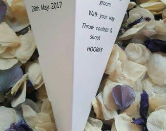 Personalised Wedding Confetti Cones