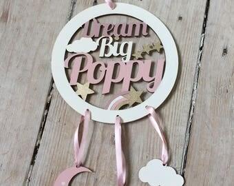 Dreamcatcher/Personalised Gift/Nursery Decor/New Baby Gift/Christening Gift/Birthday Gift/Baby Shower Gift