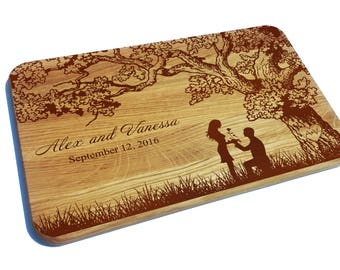 Personalized Cutting Board, Wedding Gift, Engraved Cutting Board, Dandelions, Kitchen, Anniversary gift, Gift for couple, custom gift