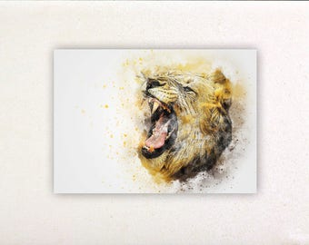Lion - Watercolor prints, watercolor posters, nursery decor, nursery wall art, wall decor, wall prints | Tropparoba - 100% made in Italy