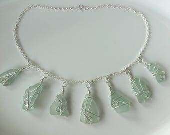 Seven piece seaglass necklace