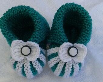 6 months baby pumpkin slippers soft wool