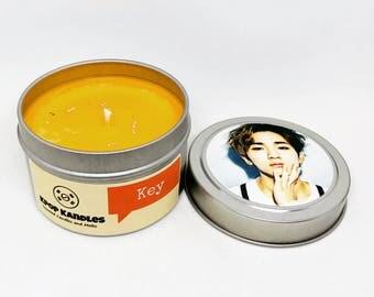 Key- 4OZ- Scented Candle- Shinee- Kpop- Soy Candle- Shawol- Kpop Gift- Kpop Merch- Korean- Hallyu- Friend Gift- Student Gift- Kdrama