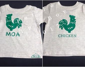 Learn Hawaiian: Moa - Chicken. Baby's t-shirt, 6-9 month