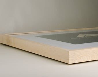 """11"""" x 14"""" Handmade Maple Picture Frame"""