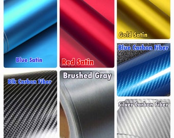 Red Blue Gray Silver White Pink Satin Gold Carbon Fiber Twill Vinyl Sticker Roll And Chrome Premium Roll Tape 3M Adhesive New Black DIY