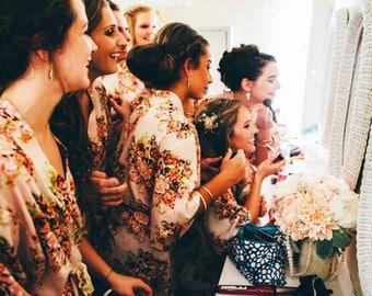 Long Bridal Robe ,White Bridal Robe ,Lace Robe,Silk Robe Vintage,Silk Robe Long,Silk Kimono,Silk Kimono Robe,Long Silk Robe,Floral Silk Robe