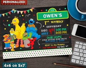 Sesame Street Birthday, Sesame Street ,Sesame Street Invitation, Sesame Street Birthday Invitation, Sesame Street Party, Sesame Street Tags