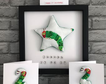 The Hungry Caterpillar personalised picture.
