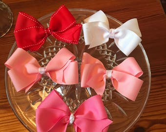 SET OF 3 5 inch Grosgrain Boutique Bow