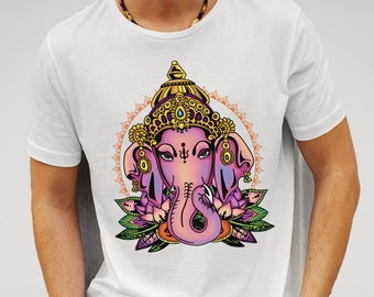 Mens Hindu God Ganesh - White T-shirt