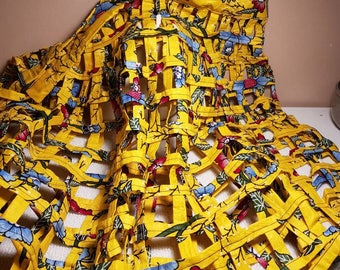 African fabric statement shawl/skirt