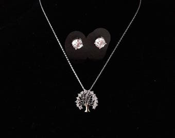 Tree of Life necklace & earrings-jewelry sets