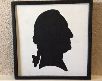 Washington Silhouette Wood Sign