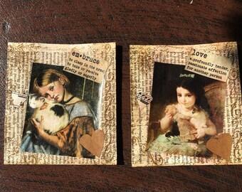 2 Vintage Pockets Junk Journal A8