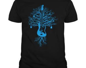 Guitar shirt - Guitar gifts - bass guitar tree funny t-shirt for men