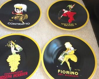 The Sakura Table Vintage Posters Stoneware Salad/Desert Plates