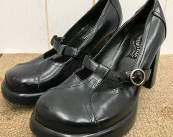 Vintage 80s 90s Chunky Shoes Heels SKECHERS Platform Mary Jane Women's Size 8