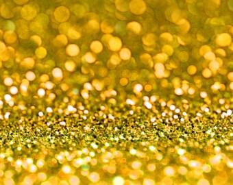 GOLD  BIO GLITTER - Biodegradable Glitter- Festival Bio Glitter - Eco Friendly Bio Glitter - Mermaid Glitter - Cosmetic Grade - 200 microns