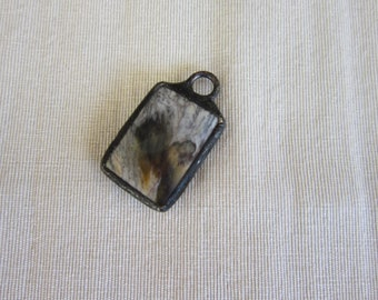 Hand Soldered Small Howlite Pendant