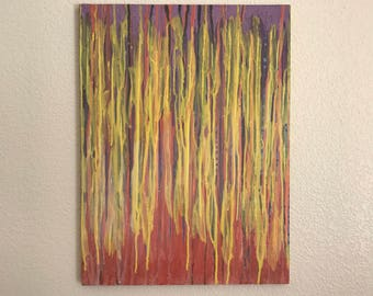 "Original Abstract Painting Canvas Art ""18 X 24"" Wall Art by Hans Herman"