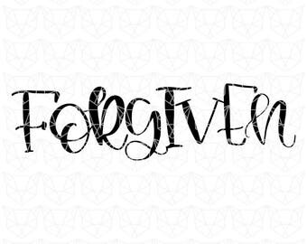 Easter SVG, Forgiven Svg, Religious SVG, Jesus Svg, Christian svg, John 3:16, Bible, He is Worthy, Bible Quotes, He is Risen SVG, Forgiven